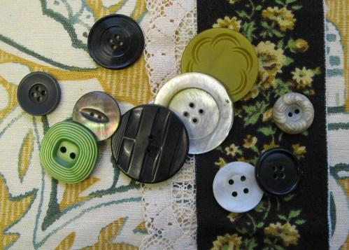 black, ecru & spring green 1