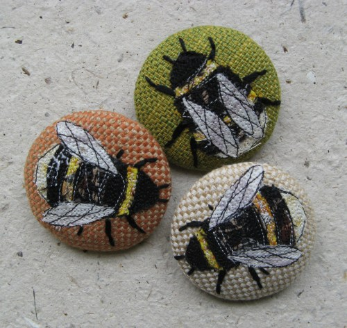 garden and bee brooches 090