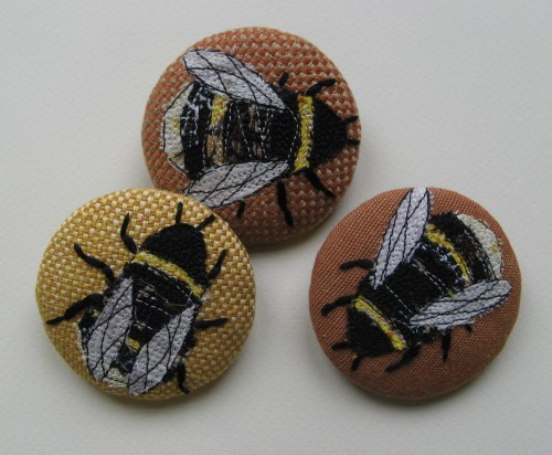 garden and bee brooches 099