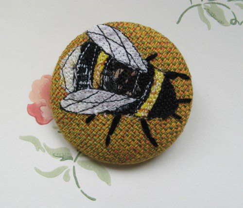 garden and bee brooches 105
