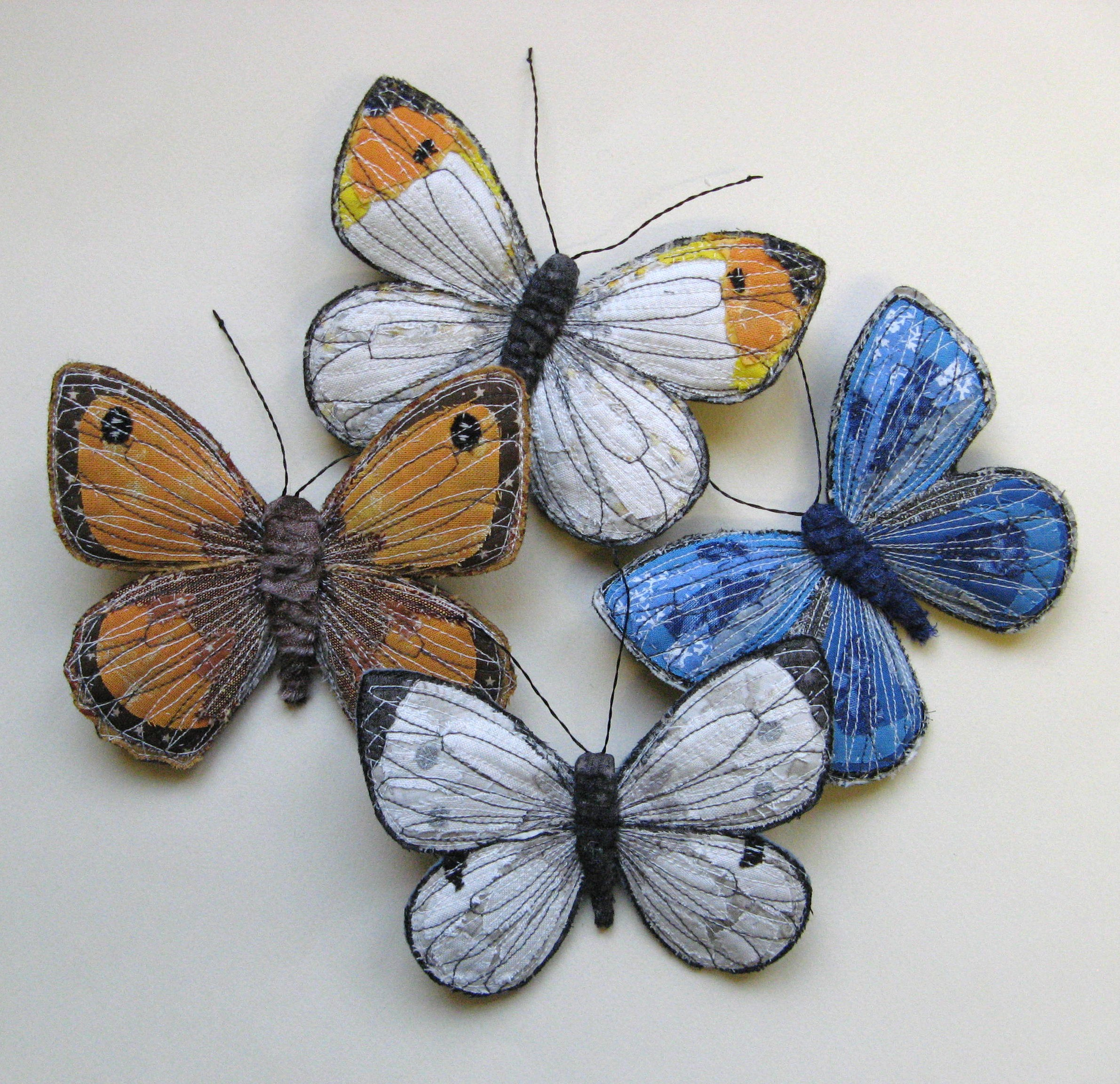 Butterfly Textile Art Agnesandcora