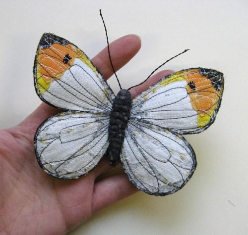 garden and four butterflies for MIB 105