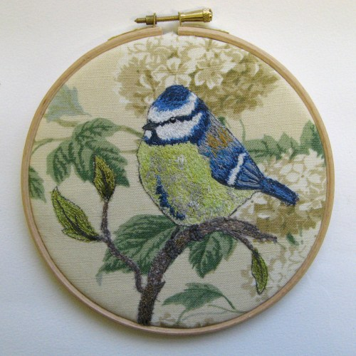 bluetit on stitched branch 001