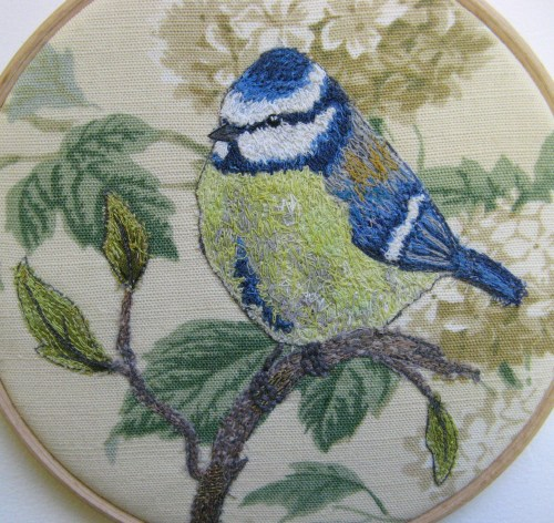 bluetit on stitched branch 019