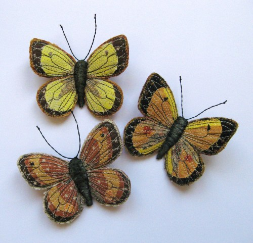 three small butterflies 001